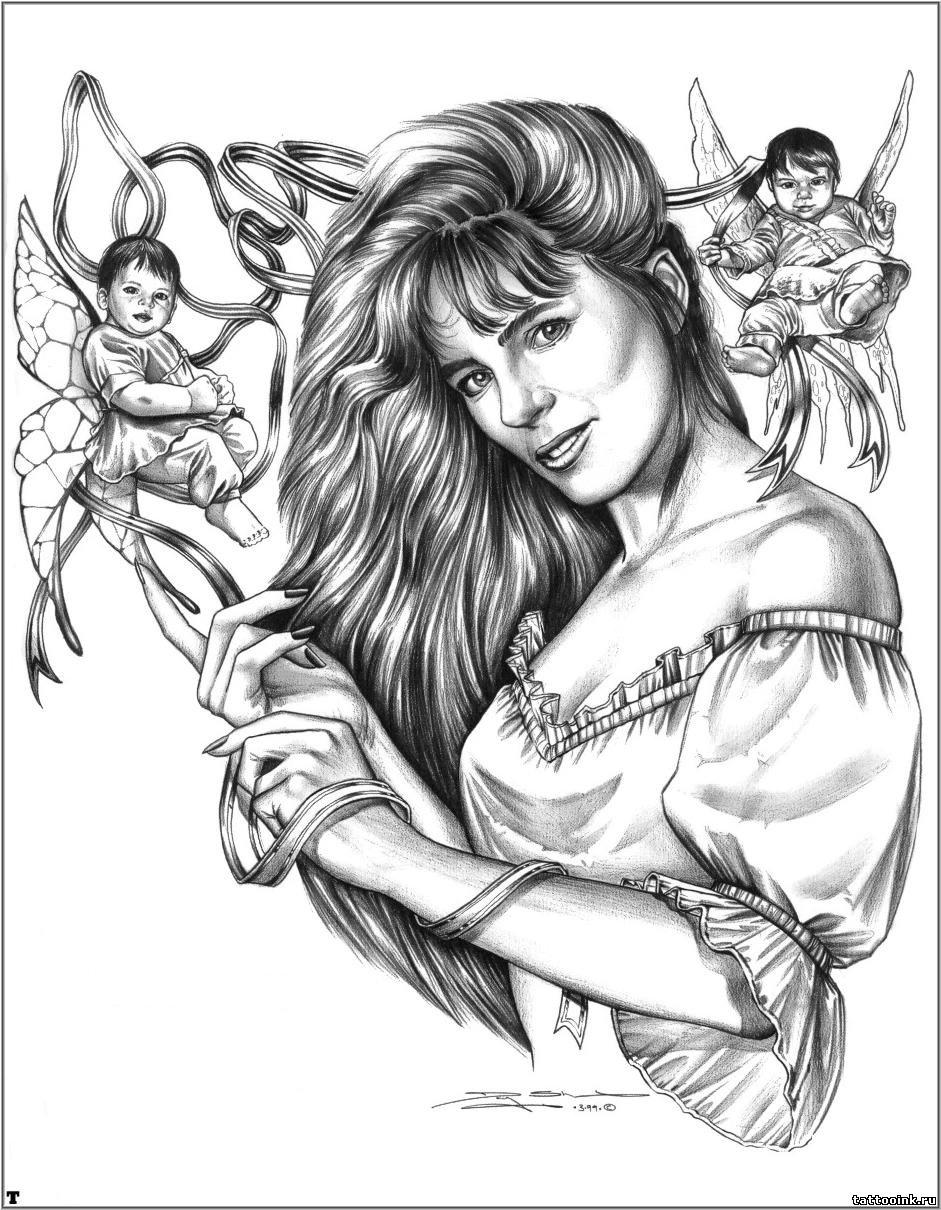 Рисунки карандашом фэнтези девушки 16 фотография