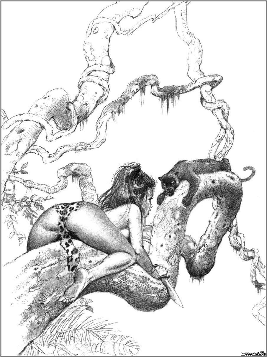 Эротические иллюстрации и рисунки 9 фотография