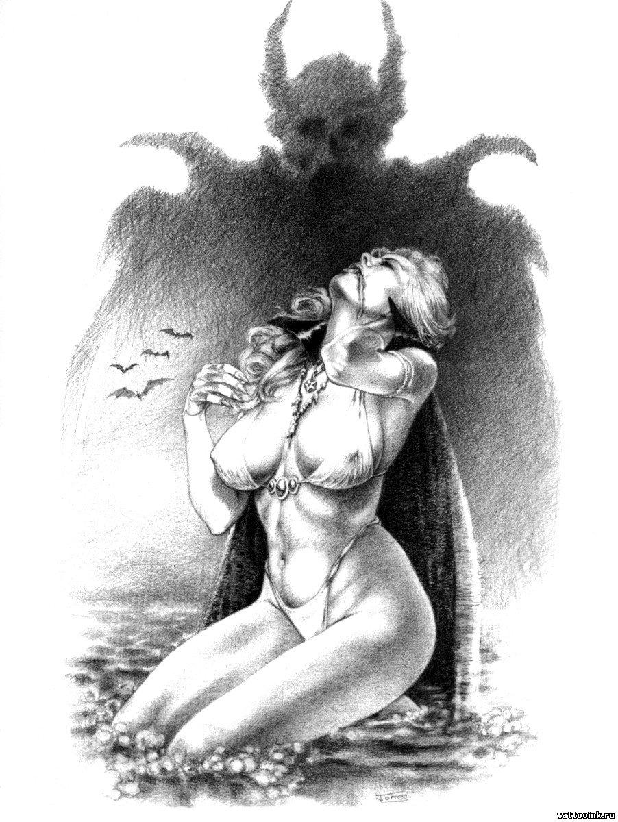 Эротические черно белые рисунки карандашом 9 фотография